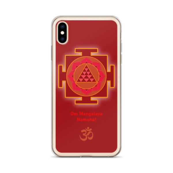 iPhone case with Mangala (Kuja, Mars) yantra and Mangala mantra Om Mangalaya Namaha! and Om symbol