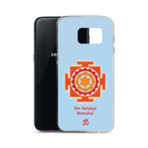 Samsung S7 phone case with Surya (Sun) yantra and Sun mantra Om Suryaya Namaha and Om symbol