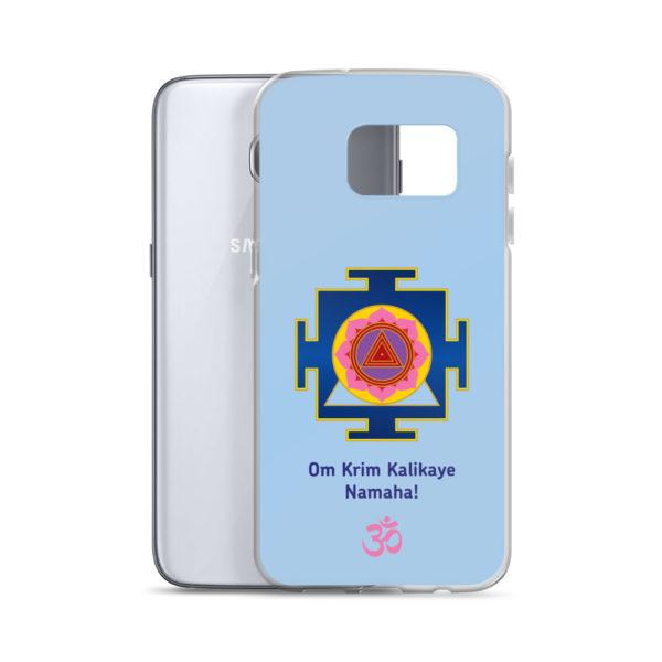 Samsung S7 phone cover with Kali mantra Om Krim Kalikaye Namaha and yantra and Om symbol
