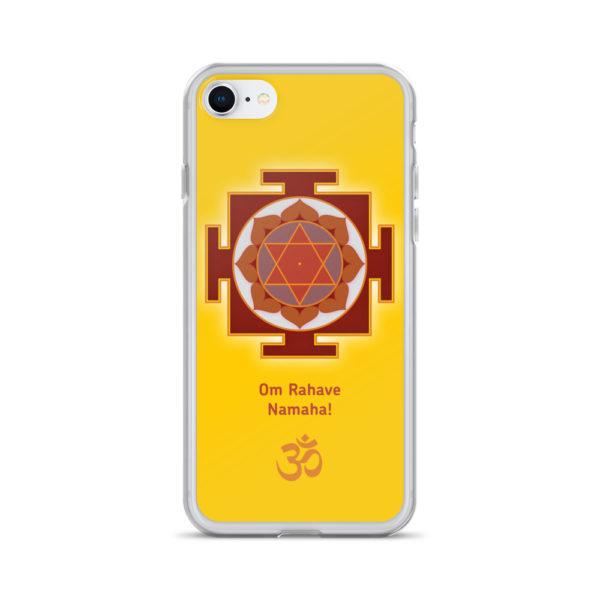 iPhone case with Rahu yantra and Rahu mantra Om Rahave Namaha and Om symbol