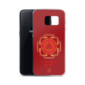 Samsung S7 phone case with Mangala (Kuja, Mars) yantra and Mangala mantra Om Mangalaya Namaha yantra and Om symbol