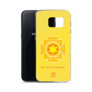 Samsung S7 phone cover with Guru mantra Om Gurave Namaha and yantra and Om symbol