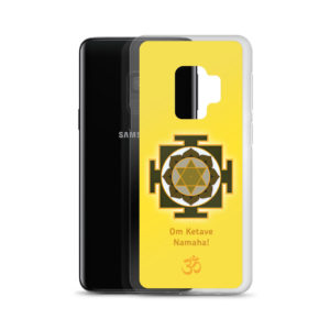 Samsung S9 phone cover with Ketu mantra Om Ketave Namaha and yantra and Om symbol