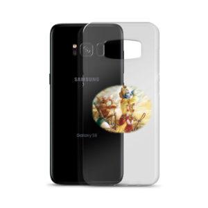 Samsung S8 phone case with Krishna and Arjuna blowing their conchshells Pancajanya and Devadatta before the battle of Kurukshetra