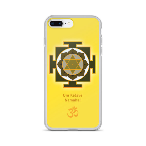 iPhone case with Ketu yantra and Ketu mantra Om Ketave Namaha! and Om symbol