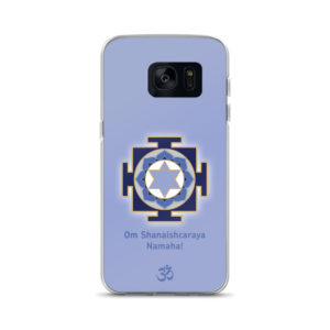 Samsung S7 phone case with Shani (Saturn) yantra and Shani mantra Om Shanaishcaraya Namaha and Om symbol