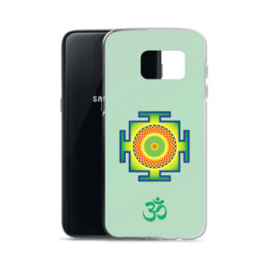 Samsung S7 phone case with sahasrara yantra and Om symbol