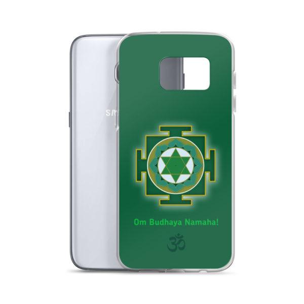 Samsung S7 phone case with Budha yantra and Budha mantra Om Budhaya Namaha and Om symbol