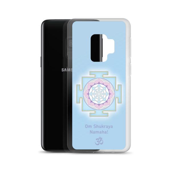 Samsung S9 phone case with Shukra (Venus) yantra and Shukra mantra Om Shukraya Namaha and Om symbol