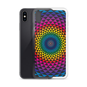 iPhone case with colourful Sahasra yantra mandala