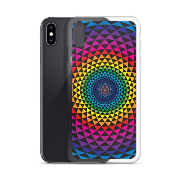 iPhone case with colourful Sahasra yantra mandala