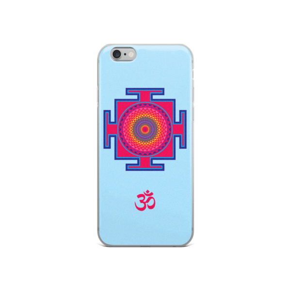 iPhone case with sahasrara yantra and Om symbol