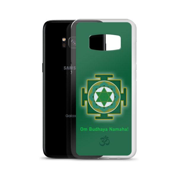 Samsung S8 phone case with Budha yantra and Budha mantra Om Budhaya Namaha and Om symbol