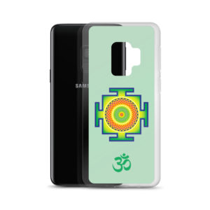 Samsung S9 phone case with sahasrara yantra and Om symbol