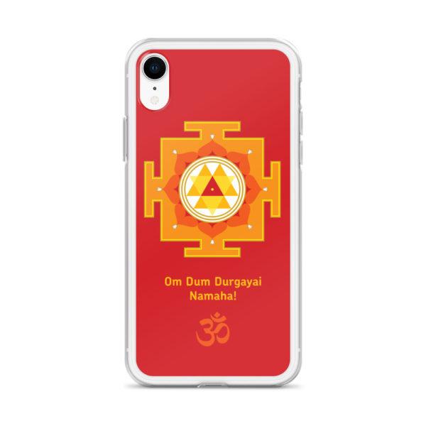 iPhone case with Durga yantra and Durga mantra Om Durgayai Namaha and Om symbol