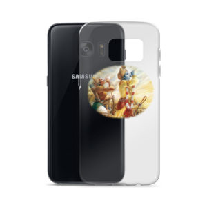 Samsung S7 phone case with Krishna and Arjuna blowing their conchshells Pancajanya and Devadatta before the battle of Kurukshetra