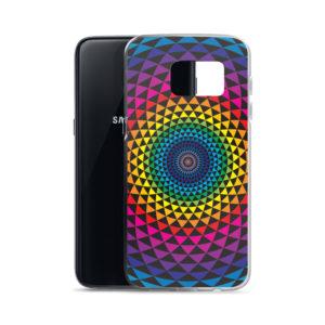 Samsung S7 phone case with colourful Sahasra yantra mandala