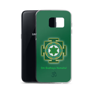 Samsung S8 phone case with Budha yantra and Budha mantra Om Budhaya Namaha and Om symbol