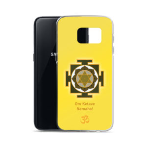 Samsung S7 phone cover with Ketu mantra Om Ketave Namaha and yantra and Om symbol