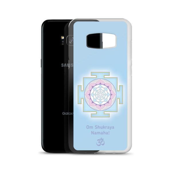 Samsung S8 phone case with Shukra (Venus) yantra and Shukra mantra Om Shukraya Namaha and Om symbol
