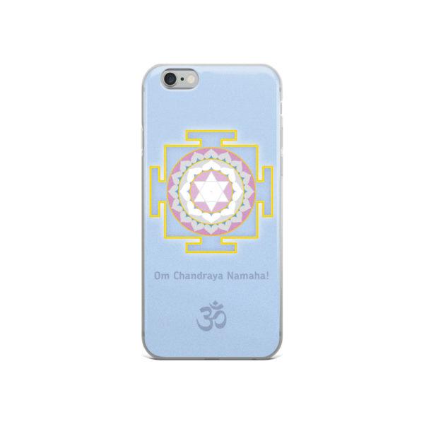 iPhone case with Shandra (Moon) yantra and Chandra mantra Om Chandraya Namaha! and Om symbol